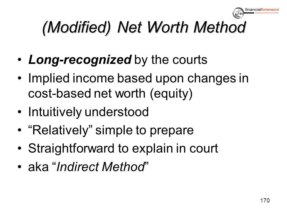 (Modified) Net Worth Method