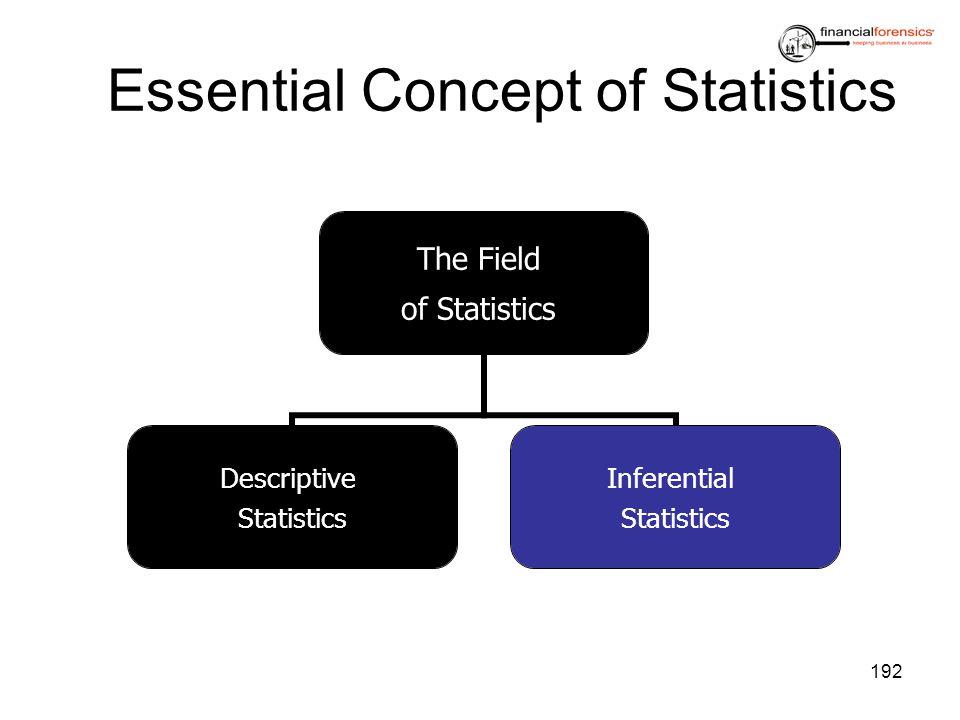 Essential Concept of Statistics