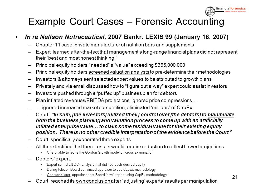forensic accounting definition and examples