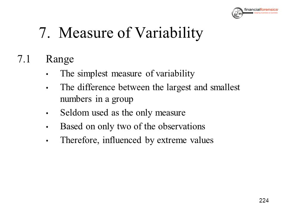 7. Measure of Variability
