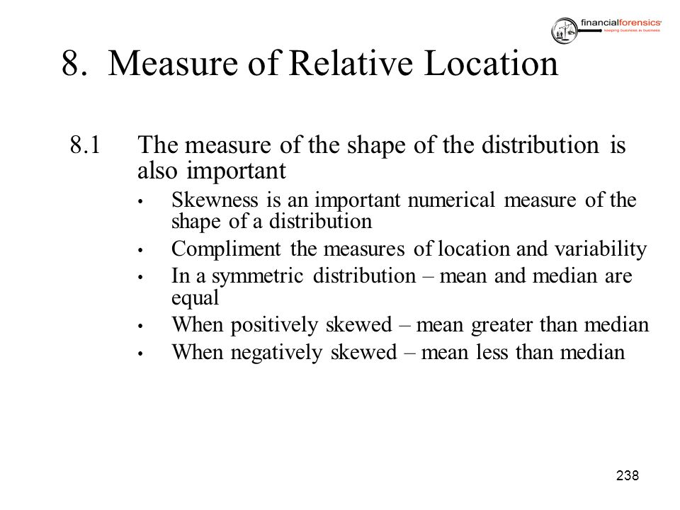 8. Measure of Relative Location