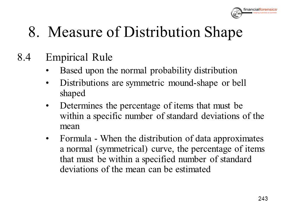 8. Measure of Distribution Shape