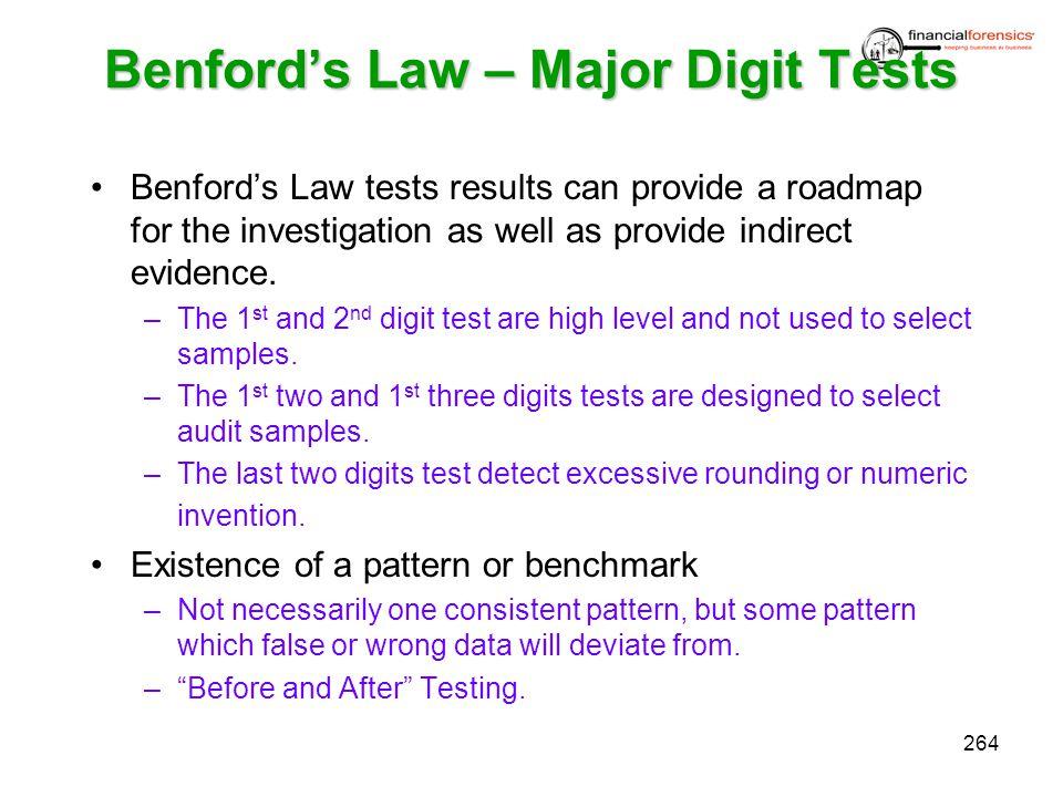 Benford's Law – Major Digit Tests