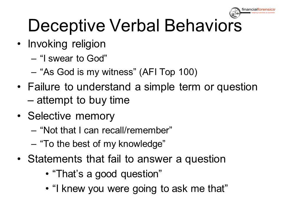 Deceptive Verbal Behaviors