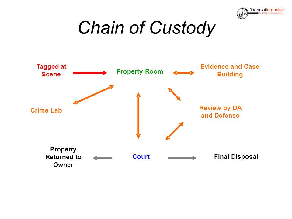 Chain of Custody Tagged at Scene Evidence and Case Building