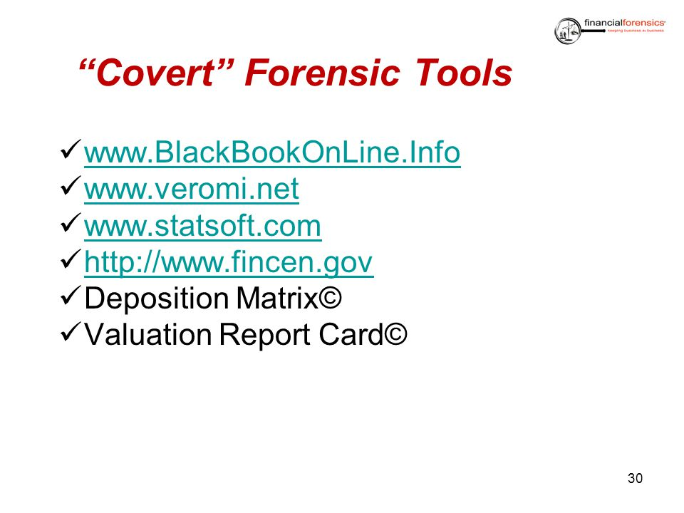 Covert Forensic Tools