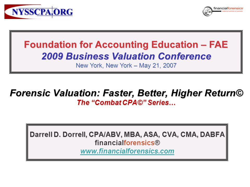 Foundation for Accounting Education – FAE