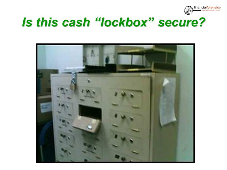 Is this cash lockbox secure
