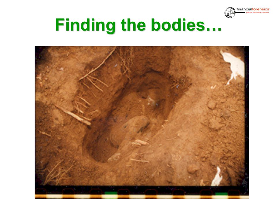 Finding the bodies…