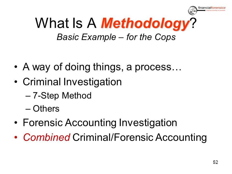 What Is A Methodology Basic Example – for the Cops