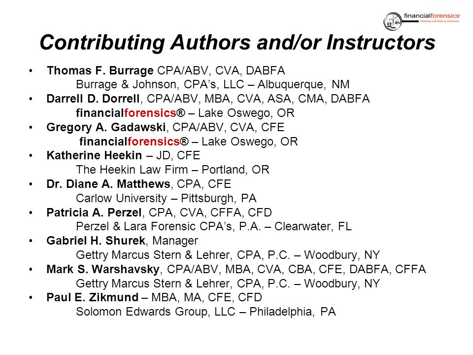 Contributing Authors and/or Instructors