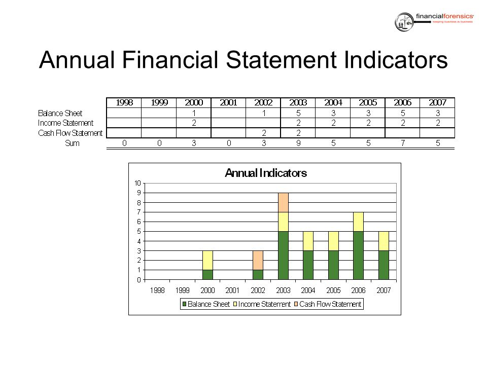 Annual Financial Statement Indicators