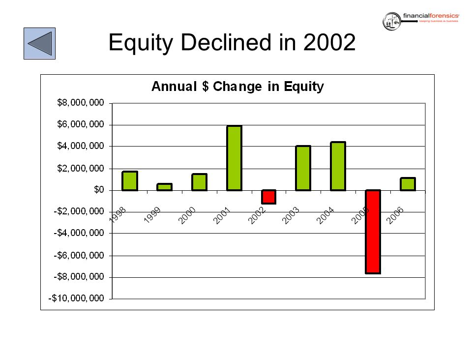 Equity Declined in 2002