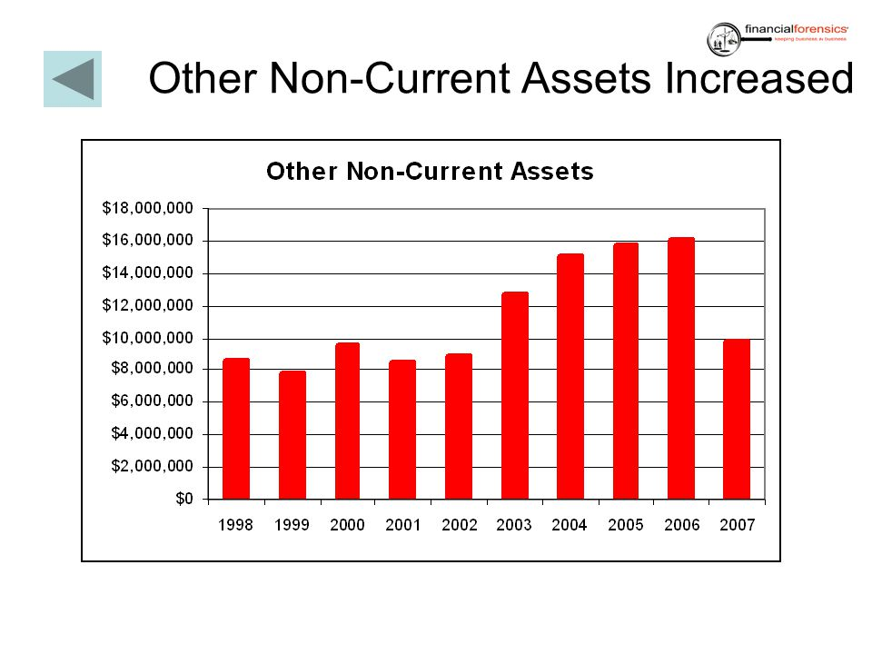 Other Non-Current Assets Increased