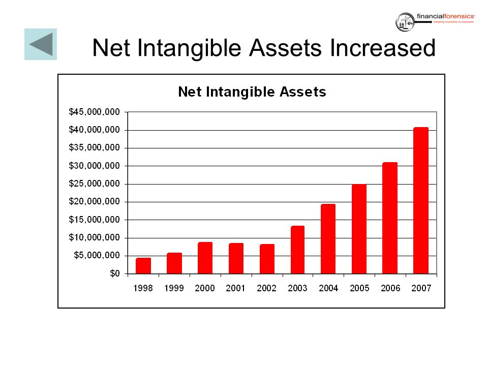 Net Intangible Assets Increased