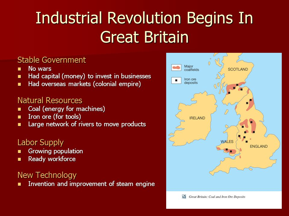 Industrial Revolution Begins In Great Britain