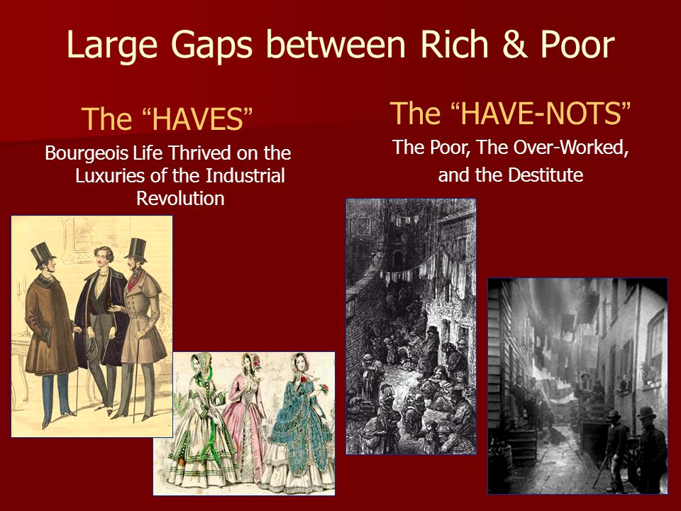 Large Gaps between Rich & Poor
