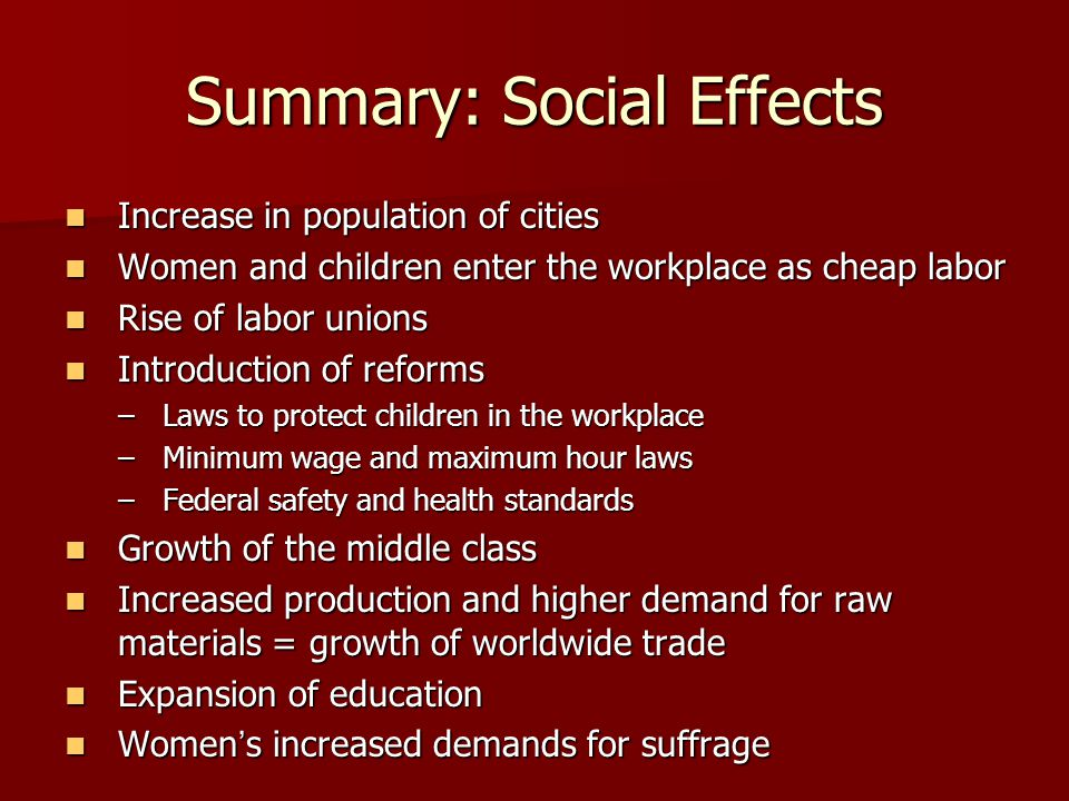 Summary: Social Effects