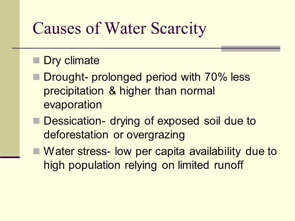 essay about scarcity of water Clean, safe drinking water is scarce today, nearly 1 billion people in the developing world don't have access to it yet, we take it for granted, we waste it, and we even pay too much to drink it from little plastic bottles.