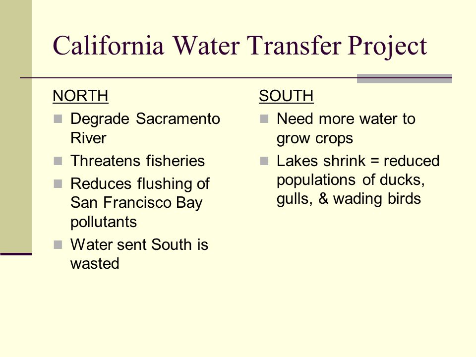 California Water Transfer Project