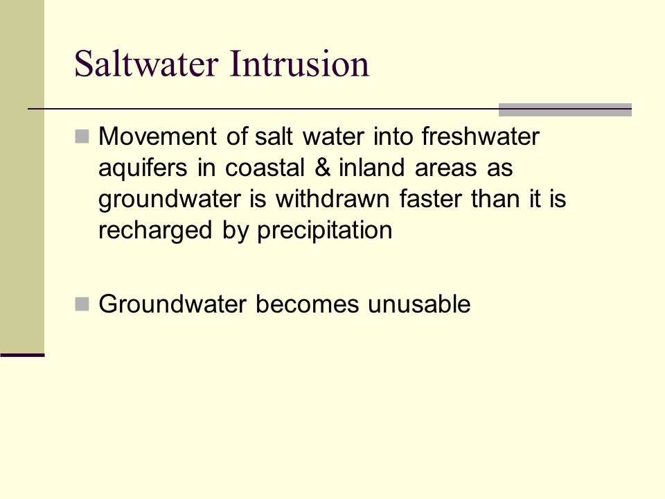 Saltwater Intrusion