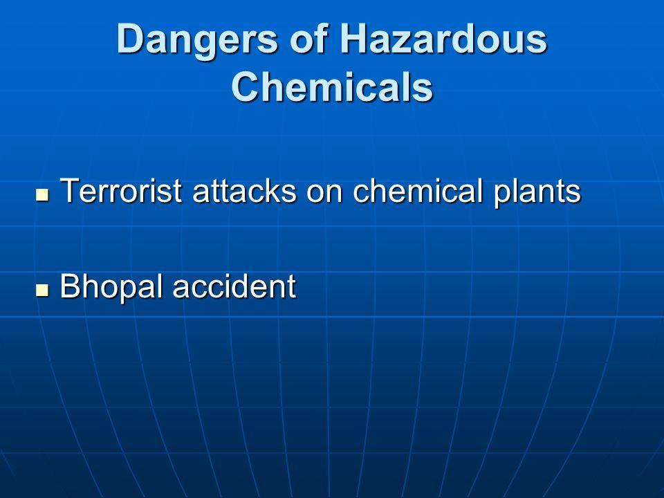 Dangers of Hazardous Chemicals