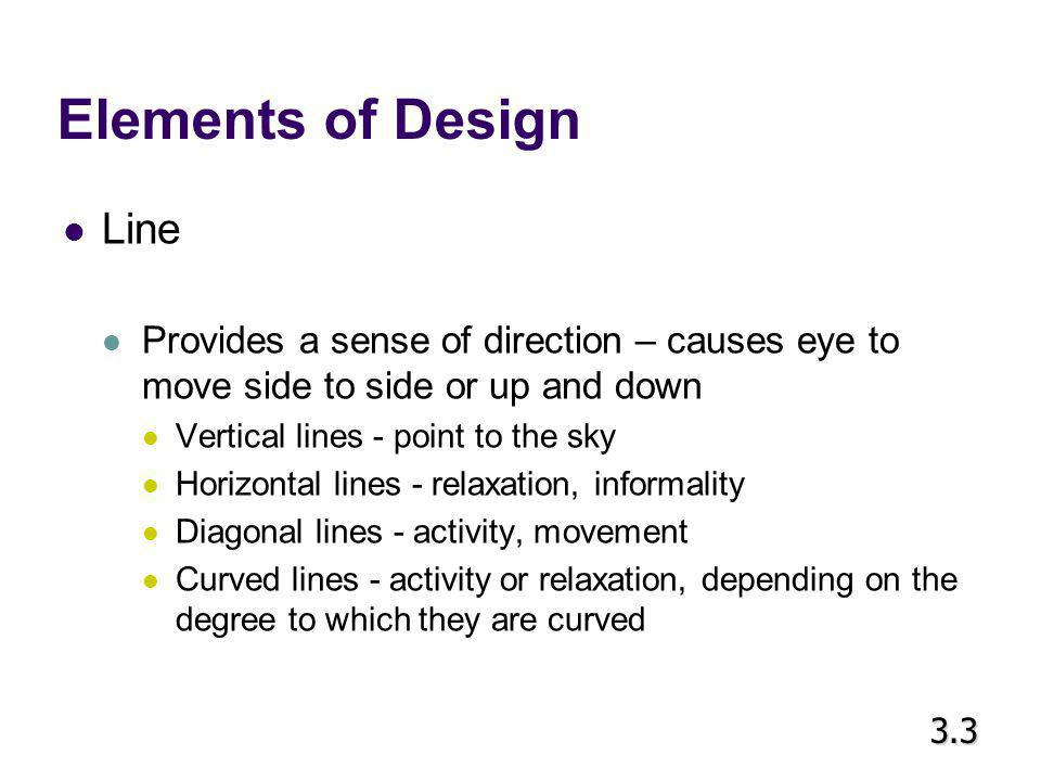 Elements of Design Line