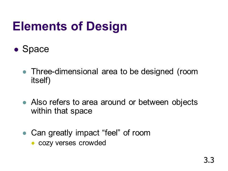Elements of Design Space