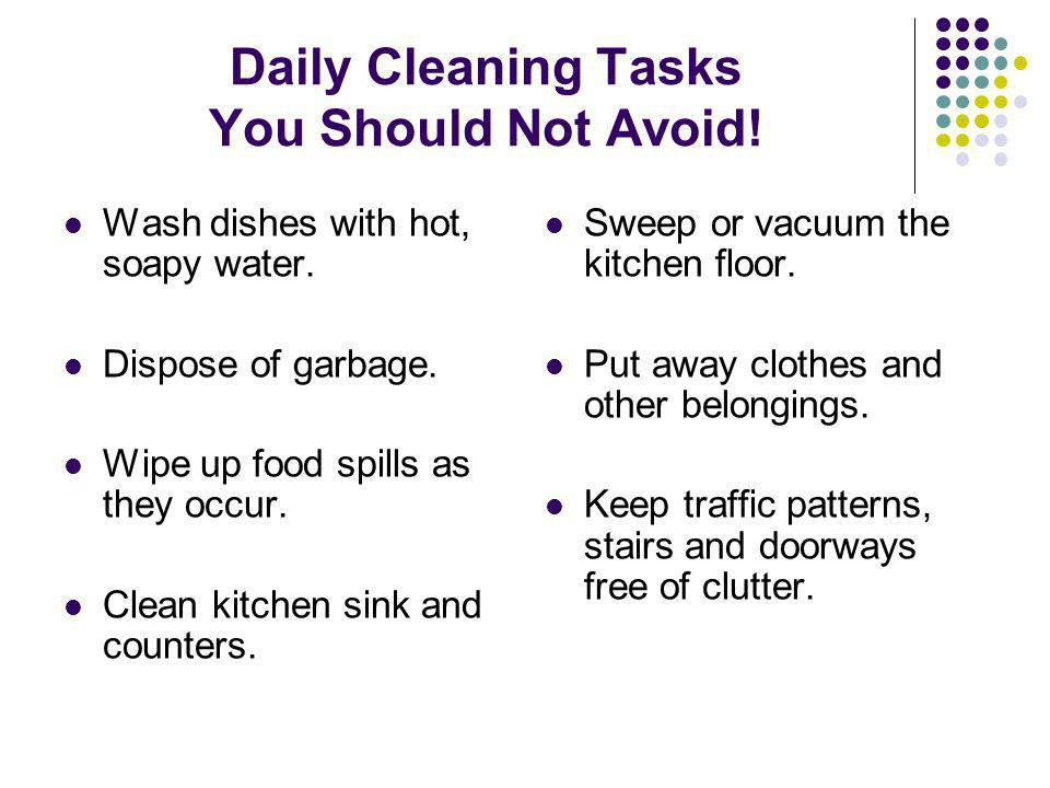Daily Cleaning Tasks You Should Not Avoid!