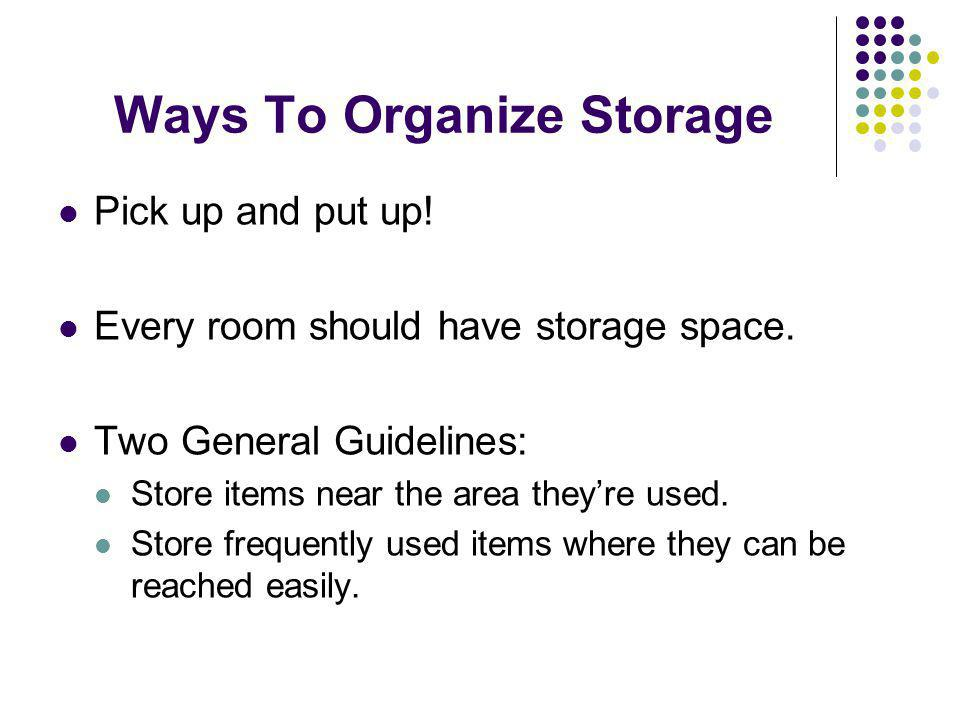 Ways To Organize Storage