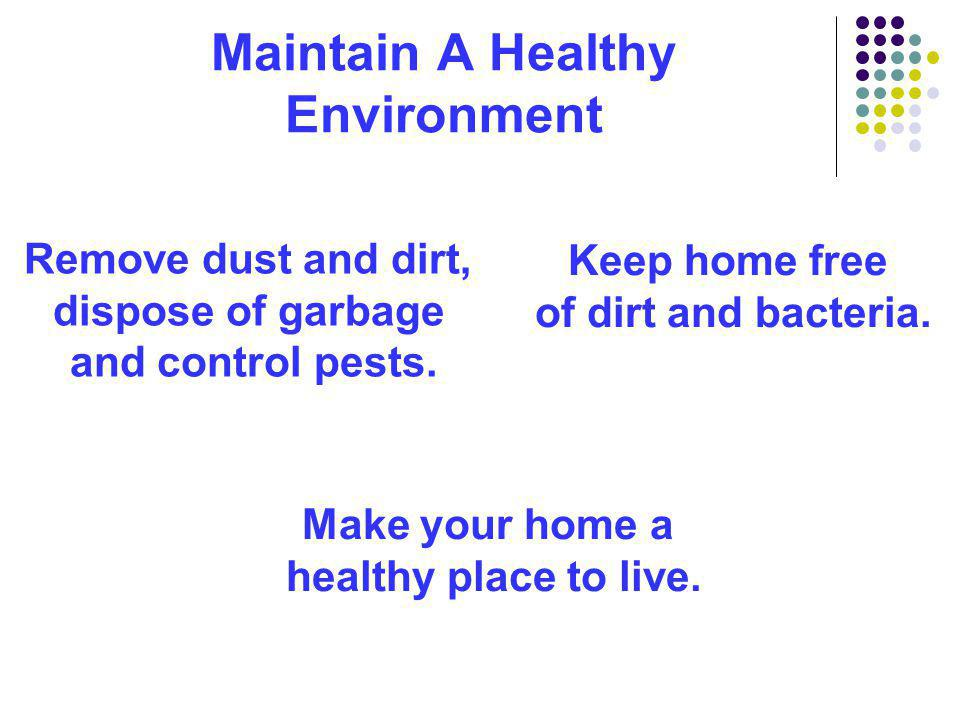 Maintain A Healthy Environment