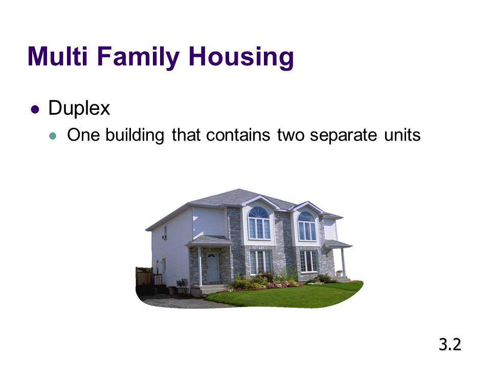 Multi Family Housing Duplex