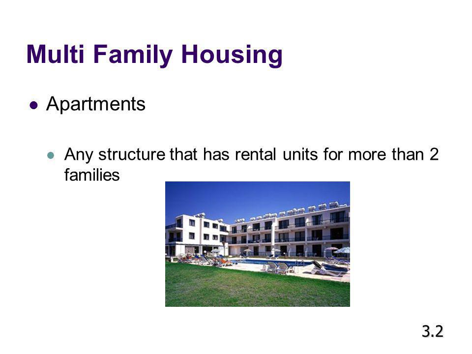 Multi Family Housing Apartments