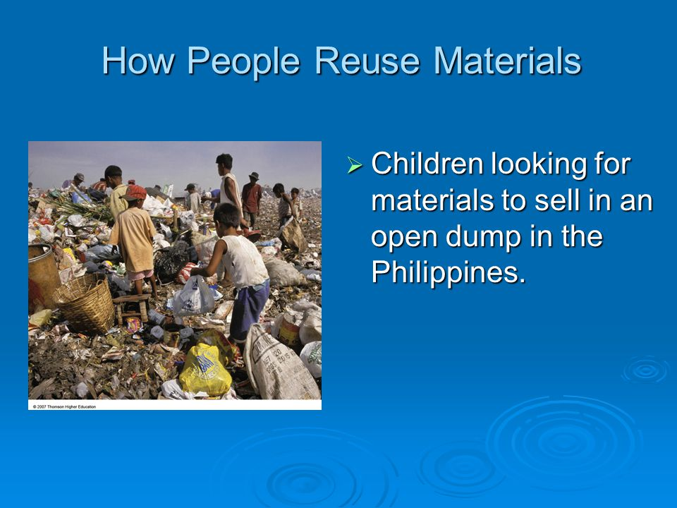 How People Reuse Materials