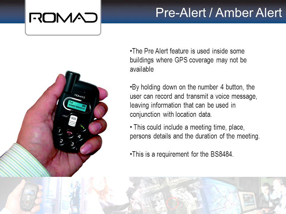 Pre-Alert / Amber Alert