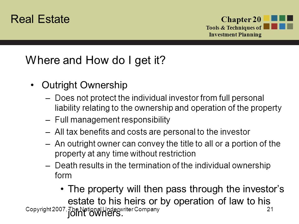 Where and How do I get it Outright Ownership