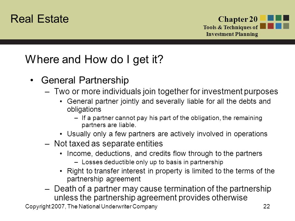 Where and How do I get it General Partnership