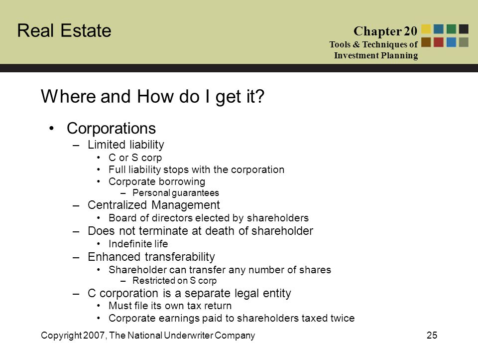 Where and How do I get it Corporations Limited liability