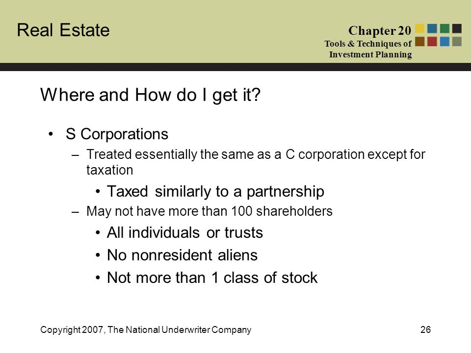 Where and How do I get it S Corporations