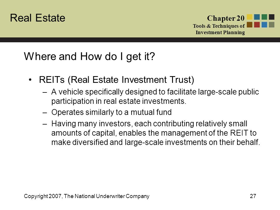 Where and How do I get it REITs (Real Estate Investment Trust)