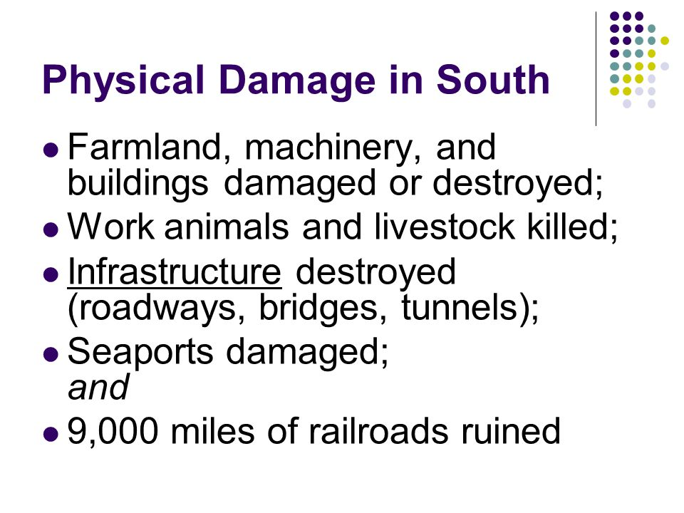 Physical Damage in South