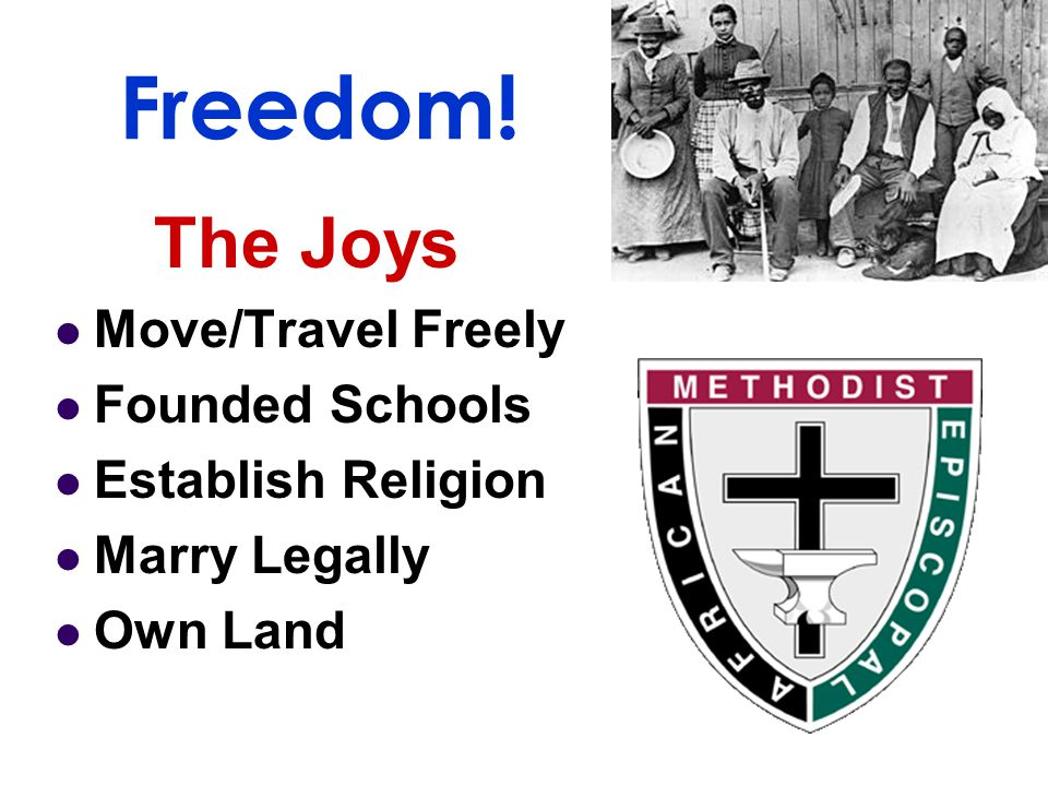 Freedom! The Joys Move/Travel Freely Founded Schools