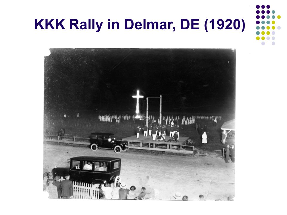 KKK Rally in Delmar, DE (1920)