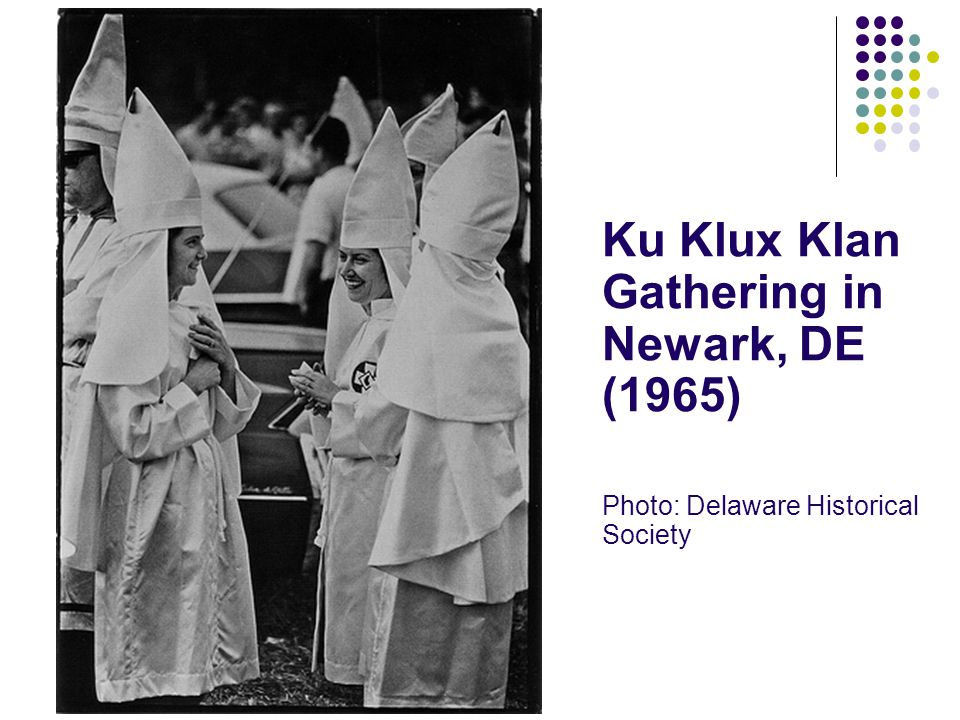 Ku Klux Klan Gathering in Newark, DE (1965)