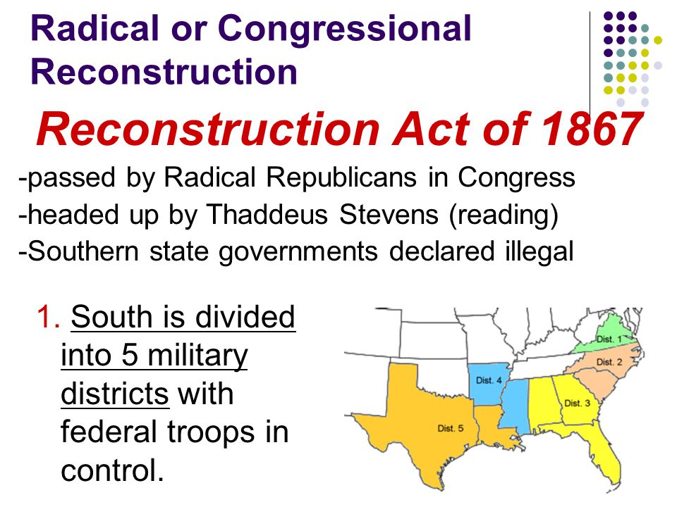 Radical or Congressional Reconstruction