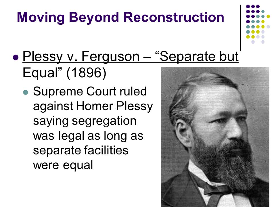 Moving Beyond Reconstruction