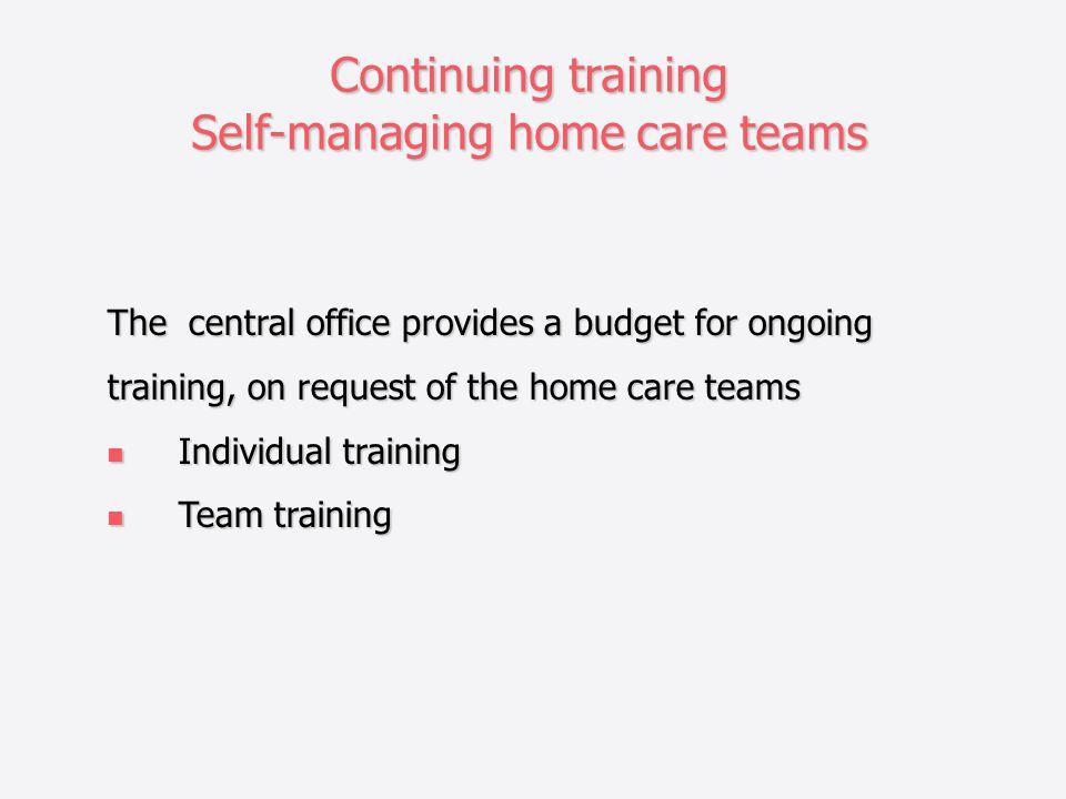 Self-managing home care teams