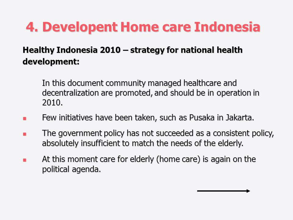 4. Developent Home care Indonesia