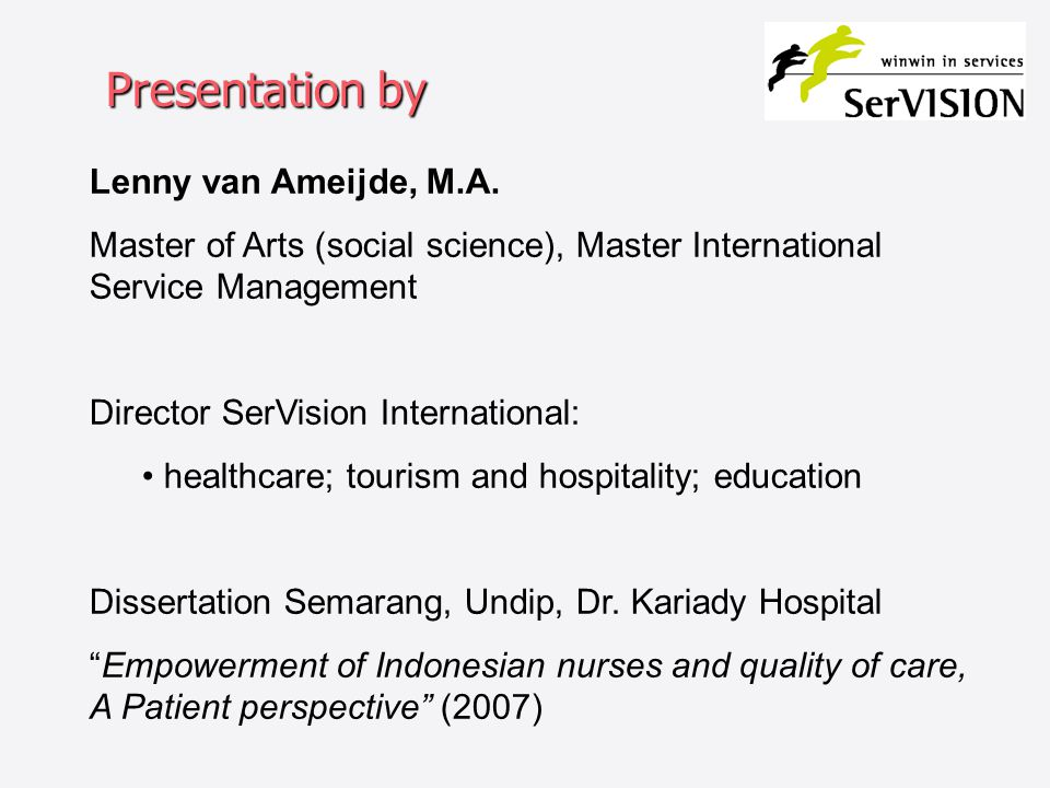 Presentation by Lenny van Ameijde, M.A.