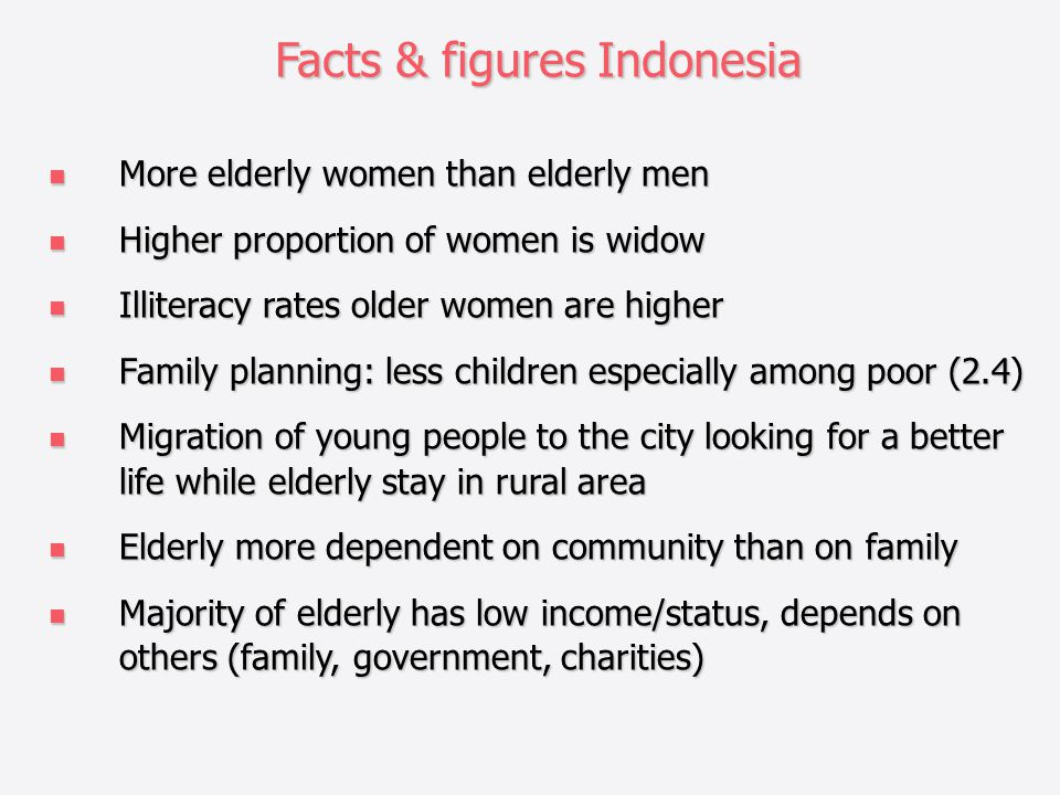 Facts & figures Indonesia